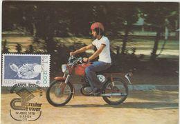 Carte Maximum PORTUGAL N°Yvert 1378 (CASQUE) Obl Sp Ill 1er Jour 1978 - Cartes-maximum (CM)