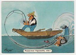 Humour Pêcheurs Pêche Passe Moi L'épuisette Vite ! N°50 Illustrateur Pouzet Va à La Pêche En 1964 - Humour
