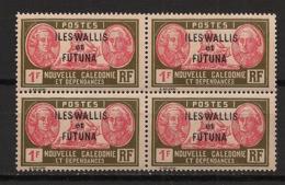 Wallis Et Futuna - 1930-38 - N°Yv. 58 - Bougainville 1f - Bloc De 4 - Neuf Luxe ** / MNH / Postfrisch - Unused Stamps