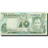 Billet, Tanzania, 10 Shilingi, 1977-1978, KM:6b, NEUF - Tanzanie