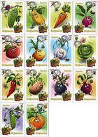 Belarus 2020 Set 14 Maxicards MC Definitives Flora  Vegetables Legumes - Vegetables