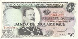 TWN - MOZAMBIQUE 116a - 50 Escudos 27.10.1970 (1976) Prefix B UNC - Mozambique