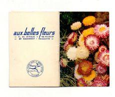 """Petit Calendrier 1971 Avec Le Langage Des Fleurs """"aux Belles Fleurs"""" Clermont-Ferrand - Format:6x9cm - Calendriers"""