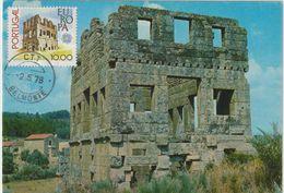 Carte Maximum PORTUGAL N°Yvert 1383 (TOUR De CENTUM CELLAS) Obl Sp Belmonte 1978 - Cartes-maximum (CM)