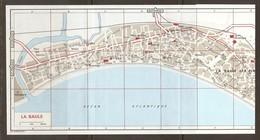 CARTE PLAN 1972 - 13 X 31 Cm - LA BAULE LES PINS - CARTE SCANNÉE En 2 PARTIES - Mapas Topográficas