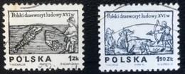 Polska - Poland - Polen - P1/1 - (°)used - 1974 - Poolse Houtsnijwerk Uit De 16e Eeuw - Michel Nr. 2350#2351 - 1944-.... Republik