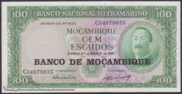 TWN - MOZAMBIQUE 117a - 100 Escudos 27.3.1961 (1976) Prefix C UNC - Mozambique
