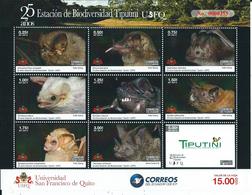 Ecuador Correo 2019 Yvert 2954/2962 ** Mnh Defecto Un Sello Taladrado  Murcielag - Equateur