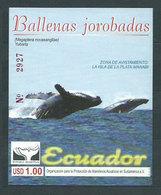 Ecuador - Hojas Yvert 104 ** Mnh Fauna. Ballenas - Equateur