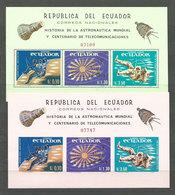 Ecuador - Hojas Lollini 2949E 4/5 ** Mnh Astro - Equateur