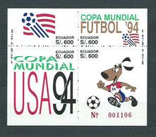 Ecuador - Hojas Yvert 98 ** Mnh Deportes. F�tbol - Equateur