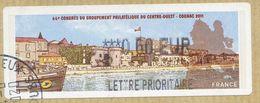 VIGNETTE LISA     44è Congrès Du Groupement Philatélique Du Centre Ouest   COGNAC  2011   LP 0.60 Euro    (sur Fragment) - 2000 «Avions En Papier»