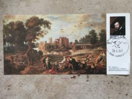 1860 (PP Rubens) Sur Carte Avec Cachet 2ème Jour Prévente Hannut 26-6-1977 - Cartas Commemorativas