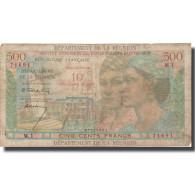 Réunion, 10 Nouveaux Francs On 500 Francs, Undated (1967), TB, KM:54b - Frankrijk