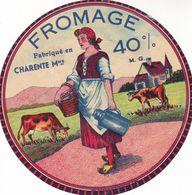 ETIQUETTE FROMAGE CAMEMBERT -  PAYSANNE -  40% - Fab En CHARENTE MARITIME  17 - Fromage