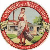 ETIQUETTE FROMAGE CAMEMBERT - BELLE JUDITH - 45% - Fab En CHARENTE MARITIME  17 - Fromage