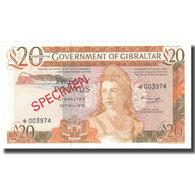 Billet, Gibraltar, 20 Pounds, 1975, 1975-11-20, Specimen, KM:23a, NEUF - Gibilterra