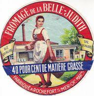 ETIQUETTE FROMAGE CAMEMBERT - BELLE JUDITH - 40% - Fab En CHARENTE MARITIME  17 - Fromage