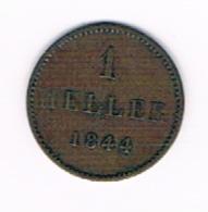 FRANKFURT 1 HELLER 1844 - [ 1] …-1871 : German States