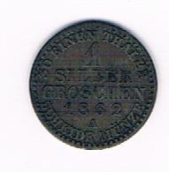 ANKALT HERZOGTHUM 1 SILBER GROSCHEN 1862 - [ 1] …-1871 : Estados Alemanes
