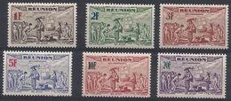 CC-/-384-. P A   N° 18/23,  * *  , Cote 5.00 €, Liquidation - Réunion (1852-1975)