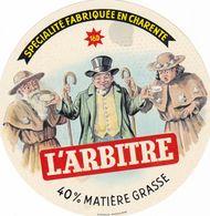 ETIQUETTE FROMAGE CAMEMBERT -  L'ARBITRE -  40% - Fab En CHARENTE 16-D - Quesos
