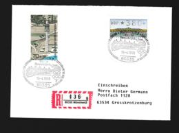 Germany Registered Cover München 1996 100 Jahre Olympische Spiele - Arrival Of Olympic Fire (G89-69) - Summer 1996: Atlanta