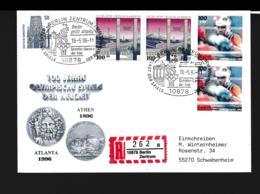 Germany Registered Cover Berlin Zentrum 1996 Berlin Grüsst Atlanta - Stadt Der Spiele Olympische Spiele  (G89-69) - Summer 1996: Atlanta