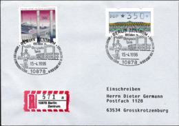 Germany Registered Cover Berlin Zentrum 1996 100 Jahre Olympische Spiele - Arrival Of Olympic Fire (G89-69) - Summer 1996: Atlanta