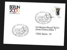 Germany Cover Berlin 12 1993 Europameisterschaften Im Rollstuhl-Basketball In Berlin (G89-69) - Handisport