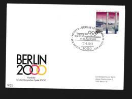 Germany Cover Berlin 12 1993 Berlin 2000 Kandidat Olympische Spiele - IOC Prüfungskommission 1993 (G89-69) - Sommer 2000: Sydney