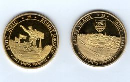 Médaille Touristique De La Fonderie Saint-Luc -35 St-MALO -intra-muros Et Robert Surcouf Au Revers -Pas Monnaie De Paris - Touristiques
