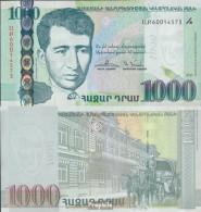 Armenien Pick-Nr: 59 Bankfrisch 2015 1.000 Dram - Arménie