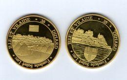 Médaille Touristique De La Fonderie Saint-Luc -35 DINARD Vue Sur La Ville -vue De La Plage - Pas Monnaie De Paris - Touristiques