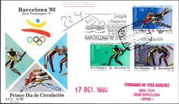 Spain Registered FDC 1992 Barcelona Olympic Games W/Proof Of Shipment (G89-68) - Summer 1992: Barcelona