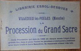 50 Manche CPA Livret Carnet 15 Cartes Villedieu Les Poeles Procession Du Grand Sacre Librairie Esnol Desrues - Villedieu
