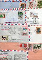 MADAGASCAR LOT DE LETTRES DIVERSES - POIDS 470 GRAMMES - Francobolli