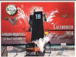 Calendrier Des Marées 2018 ( Sapeurs - Pompiers La Baule Guérande ) - Calendriers