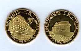 Médaille Touristique De La Fonderie Saint-Luc -22 DINAN- Tour Du Château Et Maison à Pans De Bois - Pas Monnaie De Paris - Tourist