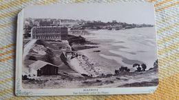 PHOTO DE BIARRITZ  VUE GENERALE PRISE DU PHARE   1910 30 ? FORMAT 9 PAR 15 CM  MAL DECOUPEE CARTONNE 18 GR - Lieux