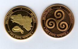 Médaille Touristique De La Fonderie Saint-Luc -Bretagne -BREIZH - Drapeau Et Chapeau Breton - Pas Monnaie De Paris - Tourist
