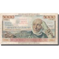 Réunion, 100 Nouveaux Francs On 5000 Francs, Undated (1967-71), TTB, KM:56b - Frankrijk