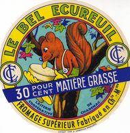 ETIQUETTE FROMAGE CAMEMBERT - LE BEL ECUREUIL - 30% - Fab En CHARENTE-MARITIME  17 - Fromage