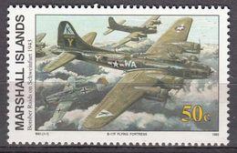 Marshall Islands 1993 WO II Bomber Raids On Schweinfurt 1943  Michel 481 MNH 28058 - Marshall