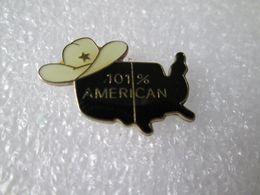 PIN'S   101%   AMERICAN - Pin's
