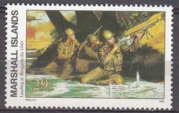 Marshall Islands 1993 WO II Landing At Bougainville 1943  Michel 488 MNH 28059 - Marshall