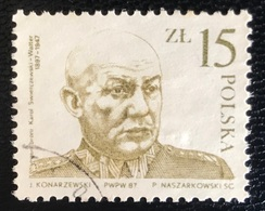 Polska - Poland - Polen - P1/1 - (°)used - 1987 - General Swierczewski - Michel Nr. 3089 - Gebraucht