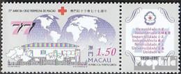 Macau 924Zf Mit Zierfeld (kompl.Ausg.) Postfrisch 1997 Rotes Kreuz Von Macau - Macao