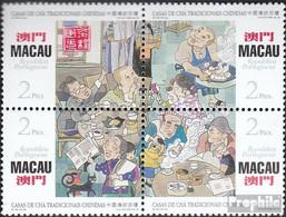 Macau 859-862 Viererblock (kompl.Ausg.) Postfrisch 1996 Chinesische Teehäuser - Macao