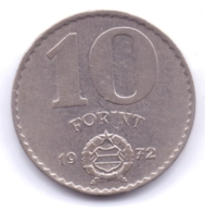 MAGYAR 1972: 10 Forint, KM 595 - Hungría